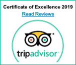 Trip Advisor - Certificate of Excellence 2019