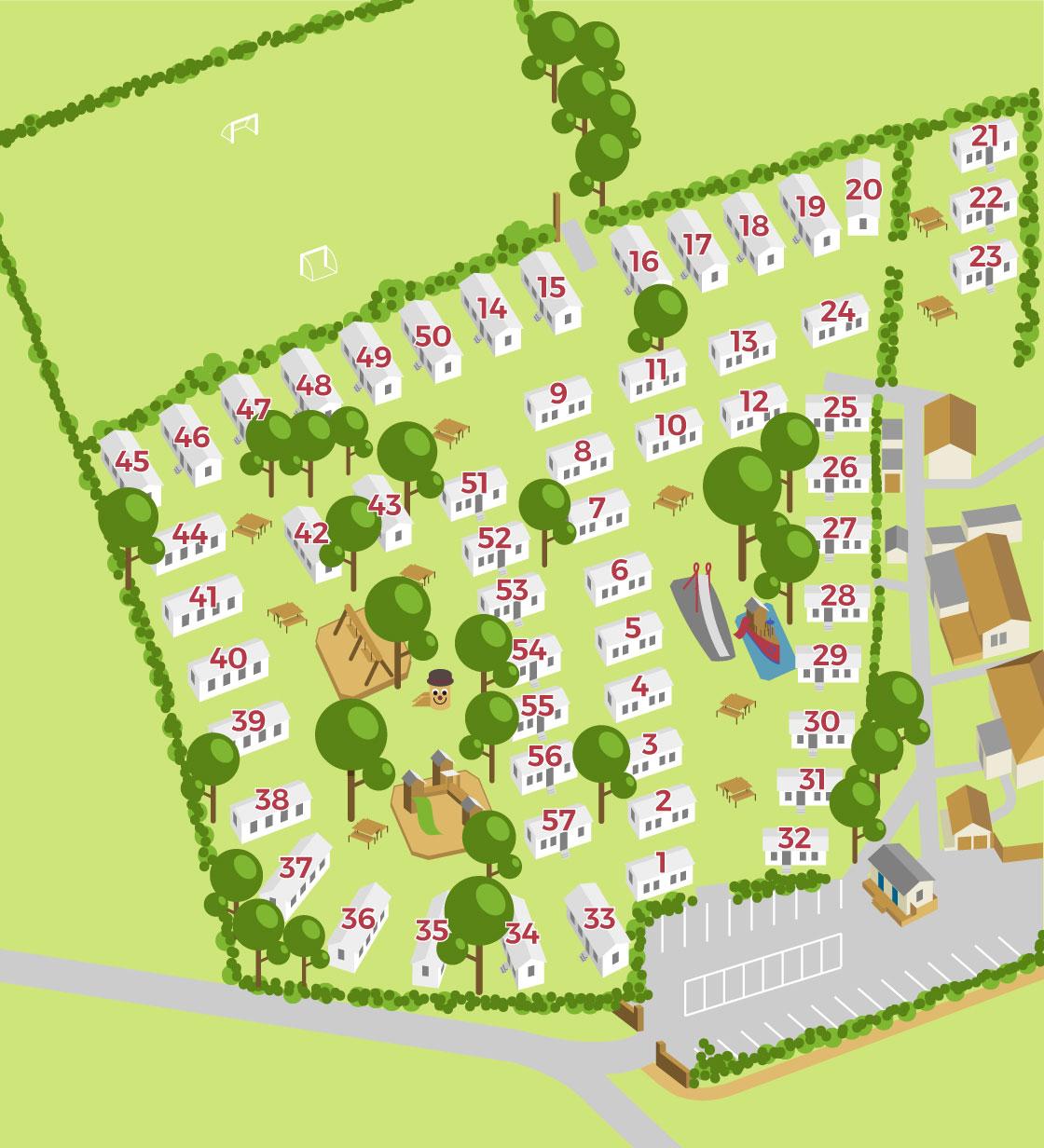 Cheverton Copse Park Layout